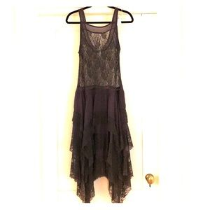 Free People Intimates Lace Tiered Dress